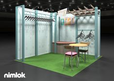 Nimlok specializes in trade show booths and retail display exhibits. for Munki Munki, we showcased their products with a custom clothing display.