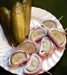 Easy Appetizer: Pickle, Ham, and Cream Cheese
