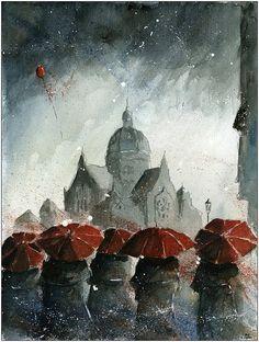 Watercolor by Grzegorz Chudy