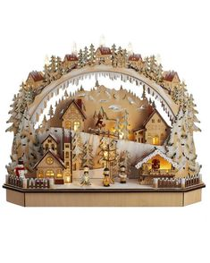 German Black Forest style Kurt Adler Battery-Operated LED Village Tablepiece - All Holiday Lane - Home - Macy's Free Printable Christmas Gift Tags, Seasonal Decor, Holiday Decor, Battery Operated Lights, Village Houses, All Holidays, Christmas Decorations, Christmas Ideas, Christmas Crafts