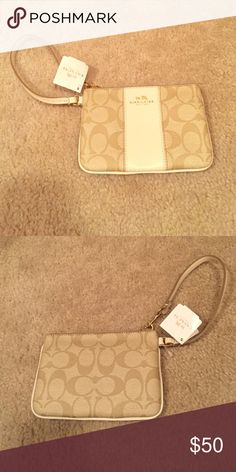 Coach Wristlet Brings new Wristlet that has never been used. It is very light but has a nice size. Great for a gift! Coach Bags Clutches & Wristlets