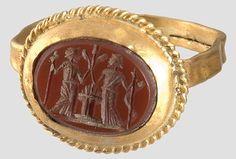 Gold ring, Roman, ca 2nd century A.D.
