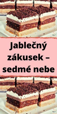 Czech Recipes, Ethnic Recipes, Cake Cookies, Tiramisu, Food And Drink, Sweets, Apple, Cooking, Pavlova