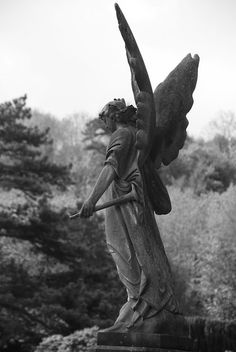 Winged grave angel, Arnos Vale Cemetery, Bristol, 13th May 2013   Flickr - Photo Sharing!