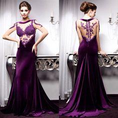 Pinned onto Evening Dresses Board in Dresses Category Purple Evening Dress, Cheap Evening Dresses, Mermaid Evening Dresses, Evening Gowns, Evening Party, Long Party Gowns, Wedding Party Dresses, Bridesmaid Dresses, Prom Dresses