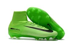 8a78180b Nike Men's Mercurial Superfly V FG Football Boot Hi Top Soccer Cleats Hyper  Green