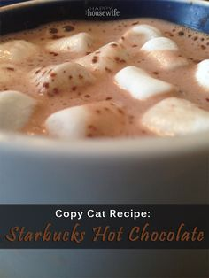 Copycat Recipe: Starbucks Hot Chocolate   The Happy Housewife