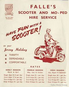 When Falles hired out mopeds. 1950's