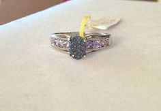 Caribbean Blue Drusy, Tanzanite Ring in Platinum over Silver (Size 7) | Blue Gemstone Jewelry LLC