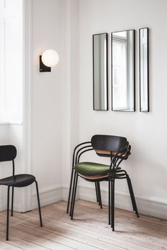 Armchairs, mirrors and lighting designed by Space Copenhagen for the SAS Royal Hotel in Copenhagen feature in&tradition's latest collection.