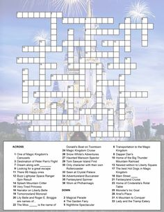 Magic Kingdom crossword puzzle for activity book MagicKingdom.jpg