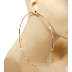 Classic Gold Hoops ($25) ❤ liked on Polyvore featuring jewelry, earrings, yellow gold hoop earrings, hoop earrings, gold jewellery, gold earrings and yellow gold jewelry
