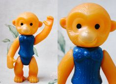 Soviet Monkey Toy / Cute Large USSR Vintage by LittleMonstersStore