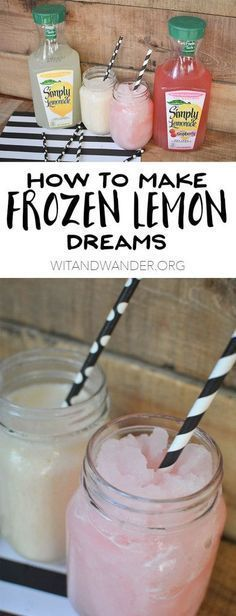 Lemon Dreams Feeling hot this summer? Try this cool Simple Summer Treat: Frozen Lemon Dreams…Feeling hot this summer? Try this cool Simple Summer Treat: Frozen Lemon Dreams… Non Alcoholic Drinks, Fun Drinks, Yummy Drinks, Healthy Drinks, Yummy Food, Cocktails, Beverages, Refreshing Drinks, Slushy Alcohol Drinks