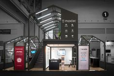 A custom made exhibition stand for Maxtec on Africacom 2017 in Cape Town, South Africa.