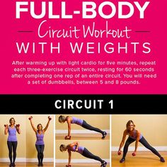 Poster Workout: Full-Body Circuit With Weights