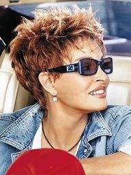 I JUST got this cut except mine is a little longer on the sides! LOVE IT and oh so easy!