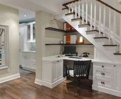 contemporary-home-office design home office under stairs Tiny House Furniture, Home Furniture, Office Furniture, Furniture Ideas, Copper Furniture, Multifunctional Furniture, Furniture Inspiration, Unique Furniture, Bedroom Furniture