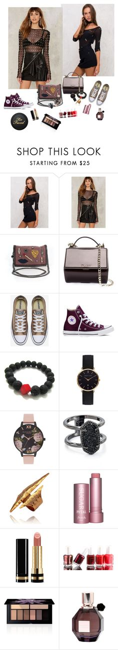 """Metals"" by audrey-balt ❤ liked on Polyvore featuring Nasty Gal, STELLA McCARTNEY, Givenchy, Converse, Abbott Lyon, Olivia Burton, Kendra Scott, Gucci, Essie and Smashbox"