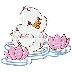 This free embroidery design is a cute little duck. Get it today!