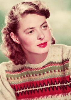 Ingrid Bergman in her Red Edge Bohus