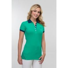 Buy contrast long line hattie polo t shirt for girls just only 649 rupees.