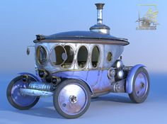3D Steam Automobile Steampunk Punk Model - 3D Model