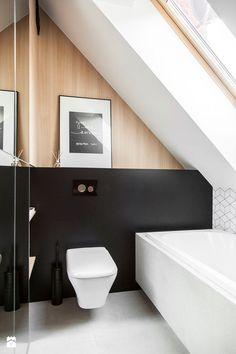 modern black & white bath