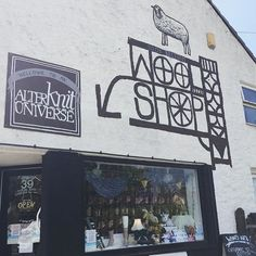 Enjoying the sunshine on our mural.  // #woolshop #alterknituniverse #yarnshop #yarnshopday #lys #localyarnshop #bristol #bristolyarnshop #bristolwool // From our shop account: @AUshopUK follow us for more fun peeks into our shop near Bristol UK. https://ift.tt/1SPuuxi We're the wool shop in Cleeve with the big sheep mural on the A370.