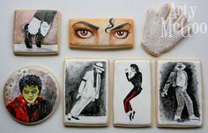 Michael Jackson cookies so awesome im going to have to make these