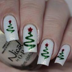 Ribbon Tree Stencils for Nails, Christmas Nail Stickers, Nail Art, Nail Vinyls Chistmas Nails, Christmas Tree Nails, Xmas Nails, Easy Christmas Nail Art, Christmas Acrylic Nails, Christmas Ribbon, Christmas Manicure, Etsy Christmas, Christmas Christmas