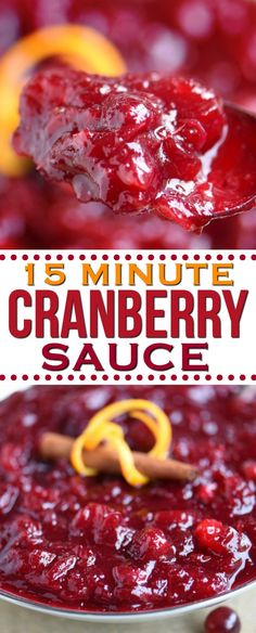 The BEST Cranberry Sauce recipe and it's ready in just 15 minutes to make and a handful of ingredien Easy Thanksgiving Recipes, Thanksgiving Side Dishes, Holiday Recipes, Thanksgiving Cranberry Sauce, Cranberry Orange Sauce, Cranberry Recipes, Homeade Cranberry Sauce, Sauce Recipes, Cooking Recipes