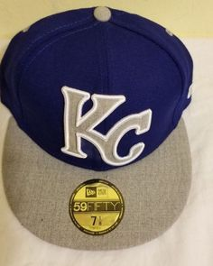 NEW-Kansas City Royals KC New Era MLB 59FIFTY Hat Cap Flat Brim-free  shipping  fashion  clothing  shoes  accessories  mensaccessories  hats  (ebay link) a44008d689e5