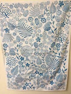 liberty inspired block printed tea towel Surface Pattern, Pattern Art, Pattern Design, Print Patterns, Indian Block Print, Fabric Stamping, Liberty Print, Wooden Blocks, Textile Design