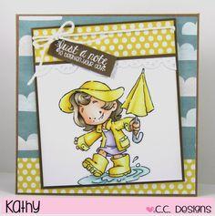 cc designs, umbrella Cinammon