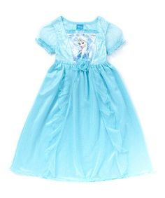 This Ice Blue Frozen Elsa Fantasy Nightgown - Toddler is perfect! #zulilyfinds
