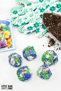 Homemade Seed Bombs #earthday #earthdaycrafts #seedbombs
