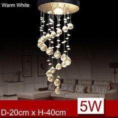 Modern Silver Chrome K9 Crystal ceiling Lights lamps Fitting Pendant Chandelier