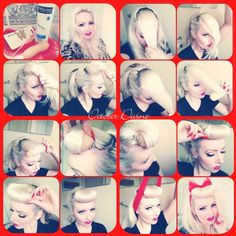 Pin up 50s hair tutorial! Works brilliant and really easy!