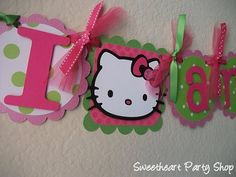 Hello Kitty DIY Birthday Banner | Hello Kitty Birthday Party Banner