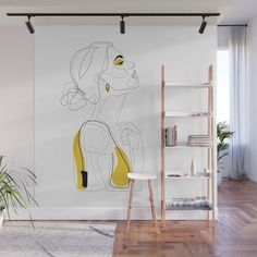 Blush Beauty Wall Mural by explicitdesign Creative Wall Painting, Wall Painting Decor, Mural Wall Art, Wall Decor, Room Decor, 3d Wall, Deco Cool, Wall Design, Floor Design