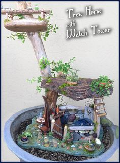tree house with watch tower