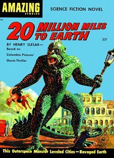Fiction based on the 1957 Harryhausen film 20 Million Miles To Earth.