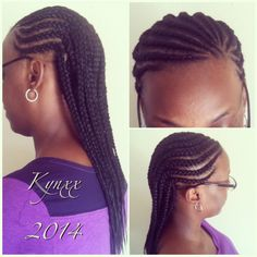 Double Layer Cornrows w/ Extensions