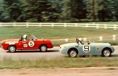 Frogeye Sprite Racing during the sixties
