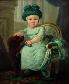 Portret van 3-jarig jongetje met valhoed en hondje – Abraham van Strij – 1782 – Foto: Dordrechts Museum