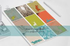 Free Printable Collage Sheet - Woodland Creatures
