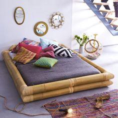 Lit futon en tige bambou 160x200 Balyss TIKAMOON