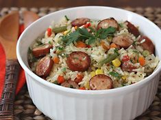Arroz Mixto con Salchicha Et Yemekleri Mexican Food Recipes, Ethnic Recipes, Meal Planner, Easy Cooking, High Tea, Kung Pao Chicken, Pasta Recipes, Potato Salad, Food And Drink