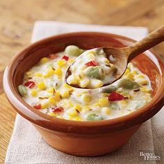 Having a barbecue? Serve this cheesy bean-and-corn side dish along with the burgers and brats.